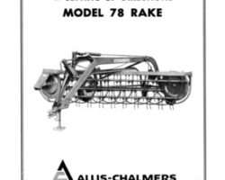 Allis Chalmers 70828458 Operator Manual - 78 Rake (ground driven)