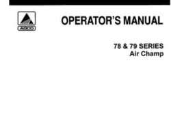Allis Chalmers 71502349 Operator Manual - 78 / 79 Series Planter Unit (Air Champ)