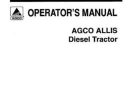 Allis Chalmers 72074367 Operator Manual - 6040 Tractor