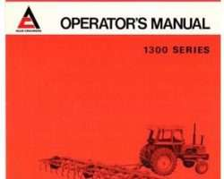 Allis Chalmers 72082173 Operator Manual - 1300 Cultivator (spring tooth)