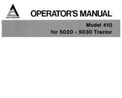 Allis Chalmers 72109023 Operator Manual - 410 Front Blade (for 5020 / 5030 tractor)