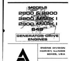 AGCO Allis 74007658 Operator Manual - 2800 / 2900 / 649 Engine (Mark 1 & 2, generator drive)