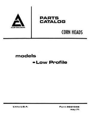 Gleaner 79001346 Parts Book - FL / GL / KL Series Corn Head (early low profile, 1971)