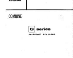 Gleaner 79001746 Parts Book - G / GH Combine (eff sn 17001)
