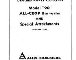 AGCO Allis 79003126 Parts Book - 90 All-Crop Harvester (and special attachments, 1965)