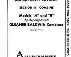 Gleaner 79003128 Parts Book - A / R Combine (eff sn 14054)
