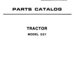 Allis Chalmers 79003143 Parts Book - D21 Tractor (incl Series 2)