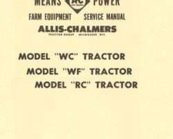 Allis Chalmers 79003402 Service Manual - WC / WF / RC Tractor