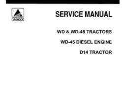 Allis Chalmers 79003405 Service Manual - D14 / WD / WD45 Tractor