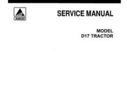 Allis Chalmers 79003408 Service Manual - D17 Tractor (all)