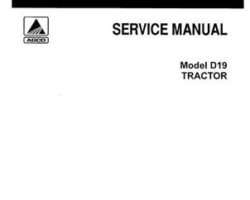 Allis Chalmers 79003409 Service Manual - D19 Tractor