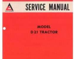 Allis Chalmers 79003410 Service Manual - D21 Tractor