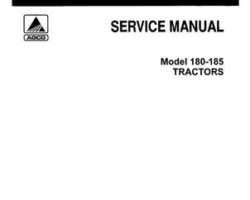Allis Chalmers 79003413 Service Manual - 180 / 185 Tractor