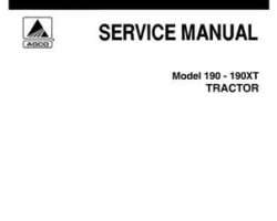 Allis Chalmers 79003414 Service Manual - 190 / 190XT Tractor (all)