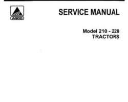 Allis Chalmers 79003416 Service Manual - 210 / 220 Tractor