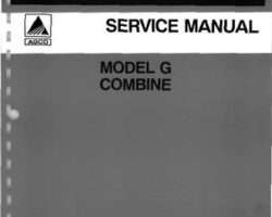 Gleaner 79003425 Service Manual - G Combine (packet)
