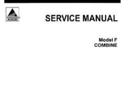 Gleaner 79003427 Service Manual - F Combine (non F2 or F3) (packet)