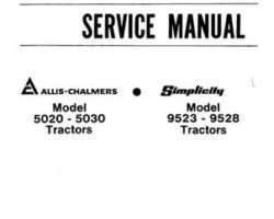 Allis Chalmers 79003451 Service Manual - 5020 / 5020 4WD / 5030 Compact Tractor