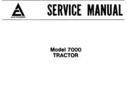 Allis Chalmers 79003467 Service Manual - 7000 Tractor