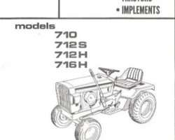 Allis Chalmers 79003868 Parts Book - 710 / 712S / 712H / 716H Lawn Tractor (& attachments)