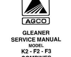 Gleaner 79004639 Service Manual - F2 / F3 / K2 Combine (packet)