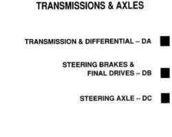 Gleaner 79004680 Service Manual - R40 / R50 Combine (transmission) (section)