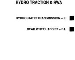 Gleaner 79004681 Service Manual - R40 / R50 Combine (hydro traction drive, RWA) (section)
