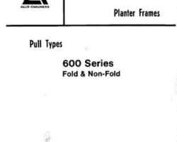 Allis Chalmers 79005784 Parts Book - 600 Series Planter (fold & non-fold frame)