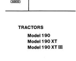 Allis Chalmers 79006410 Parts Book - 190 / 190XT Tractor (all)