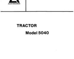 Allis Chalmers 79006636 Parts Book - 5040 Tractor (all)