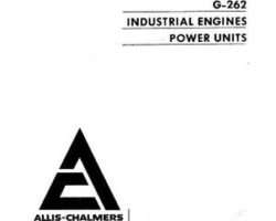 AGCO Allis 79007394 Parts Book - G262 Engine (6 cyl. gasoline & natural gas)