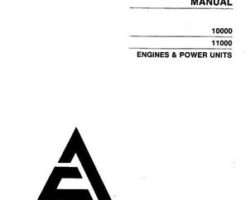 AGCO Allis 79007428 Operator Manual - 10000 / 11000 Engine & Power Unit