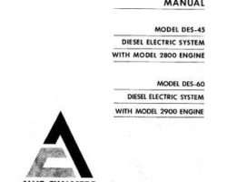 AGCO Allis 79007436 Operator Manual - 2800 / 2900 Engine (w DES 45 / 60)
