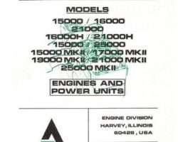 Allis Chalmers 79007554 Service Manual - 15000 / 16000 / 19000 / 21000 Series Engine (Mark 2)