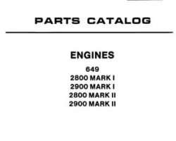 AGCO Allis 79007593 Parts Book - 2800 / 2900 / 649 Engine (Mark 1 & 2)