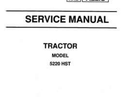 AGCO 79010977 Service Manual - 5220 Compact Tractor (hydro trans, cover & intro section)