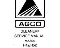 Gleaner 79016135 Service Manual - R42 / R52 Combine (packet)
