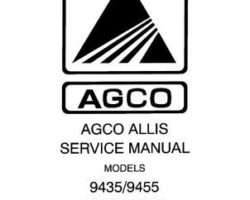 AGCO Allis 79016313 Service Manual - 9435 / 9455 Tractor (packet)