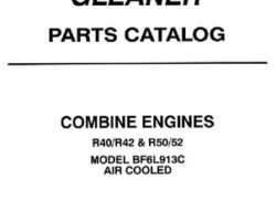 Gleaner 79017052 Parts Book - R40 / R42 / R50 / R52 Combine (BF6L913C air cooled engine)