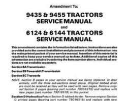 AGCO Allis 79017088 Service Manual - 6124 / 6144 / 9435 / 9455 Tractor (trans & hydraulic update)