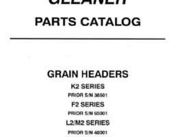 Gleaner 79017111 Parts Book - F / K / L / M Grain Header (early)