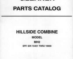 Gleaner 79017273 Parts Book - MH2 Combine (eff sn 15401-19900)
