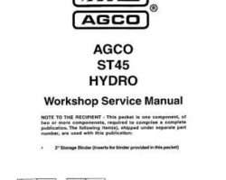 AGCO 79017546 Service Manual - ST45 Compact Tractor (hydro trans)