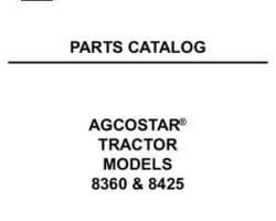AGCOStar 79018472 Parts Book - 8360 / 8425 Tractor