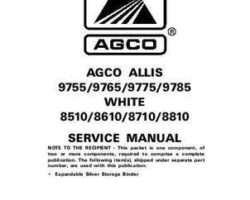 AGCO Allis 79018647 Service Manual - 9755 to 9785 / 8510 to 8810 Tractor (packet)
