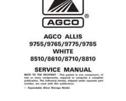 AGCO Allis 79018655B Service Manual - 9755 to 9785 / 8510 to 8810 Tractors (assembly)