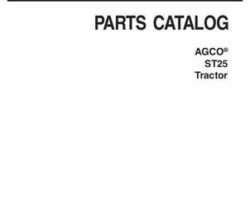 AGCO 79018934C Parts Book - ST25 Compact Tractor