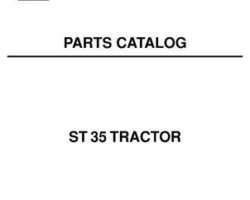 AGCO 79018940 Parts Book - ST35 Compact Tractor (prior sn 'L')