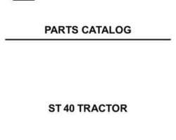 AGCO 79018942 Parts Book - ST40 Compact Tractor (prior sn 'L')