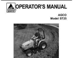 AGCO 79019033B Operator Manual - ST25 Compact Tractor